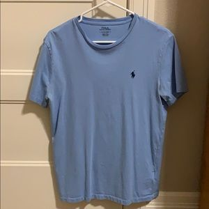 Men's Small Polo T-Shirt Baby Blue Good Condition